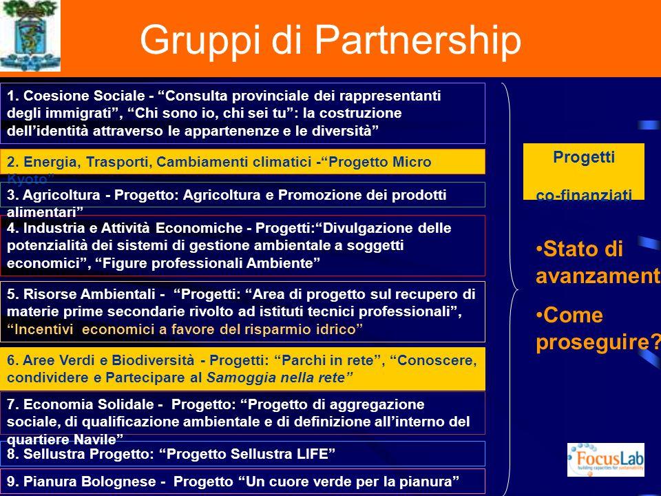 Gruppi di Partnership 1.