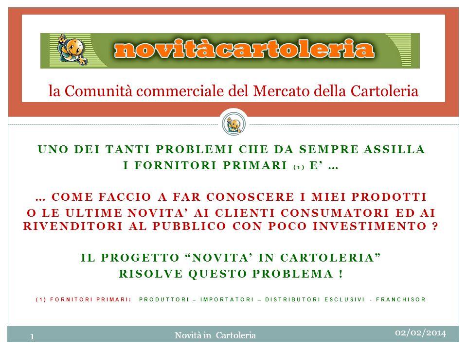 3a- FINALITA DEL PROGETTO: A COSA SERVE 02/02/2014 FORNITORI PRIMARI: www.novitacartoleria.it E IL PORTALE MESSO A DISPOSIZIONE ESCLUSIVA DEI FORNITORI PRIMARI PER COLMARE LA LACUNA INFORMATIVA ESISTENTE TRA LA PRODUZIONE ED I CONSUMATORI E SERVE PER: FAR CONOSCERE AI CLIENTI CONSUMATORI PRODOTTI, LE NOVITA, LE ESCLUSIVITA DELLA PRODUZIONE PER PROMUOVERNE LE VENDITE SIA NEI NEGOZI TRADIZIONALI CHE ON LINE INFORMARE GLI STESSI CLIENTI SUGLI INDIRIZZI DEI RIVENDITORI TERRITORIALI DOVE ACQUISTARE I PRODOTTI INFORMARE I RIVENDITORI SUI DISTRIBUTORI TERRITORIALI DOVE RIFORNIRSI DEI PRODOTTI PUBBLICIZZATI DA RIVENDERE www.novitacartoleria.it Novità in Cartoleria 12