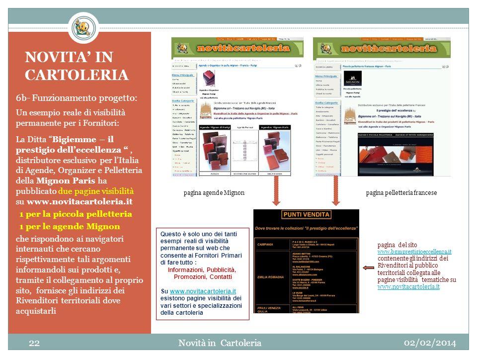 NOVITA IN CARTOLERIA 6b- Funzionamento progetto: Un esempio reale di visibilità permanente per i Fornitori: La Ditta Bigiemme – il prestigio delleccel