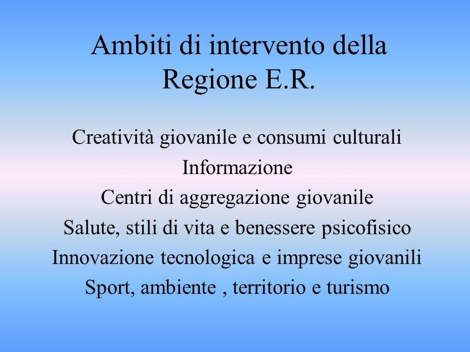 Ambiti di intervento della Regione E.R.