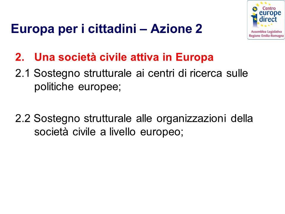 Europa per i cittadini – Azione 2 2.
