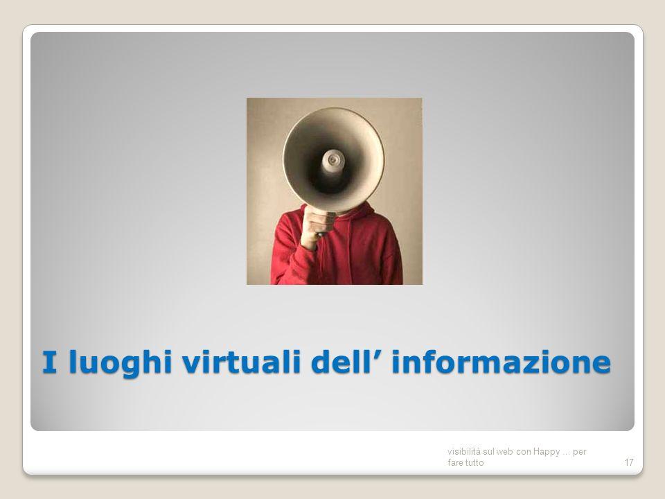 I luoghi virtuali dell informazione visibilità sul web con Happy... per fare tutto17