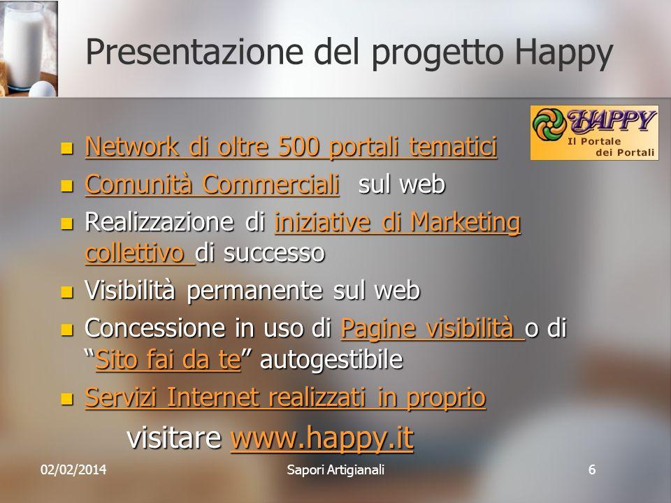 Presentazione del progetto Happy Network di oltre 500 portali tematici Network di oltre 500 portali tematici Network di oltre 500 portali tematici Net