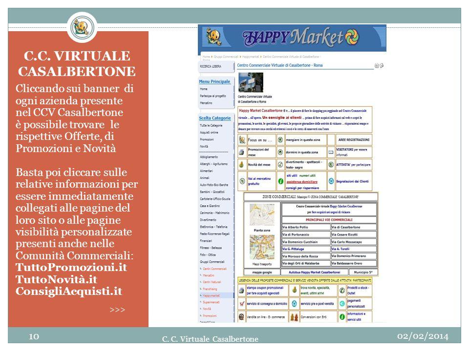 Cliccando sui banner di ogni azienda presente nel CCV Casalbertone è possibile trovare le rispettive Offerte, di Promozioni e Novità Basta poi cliccar