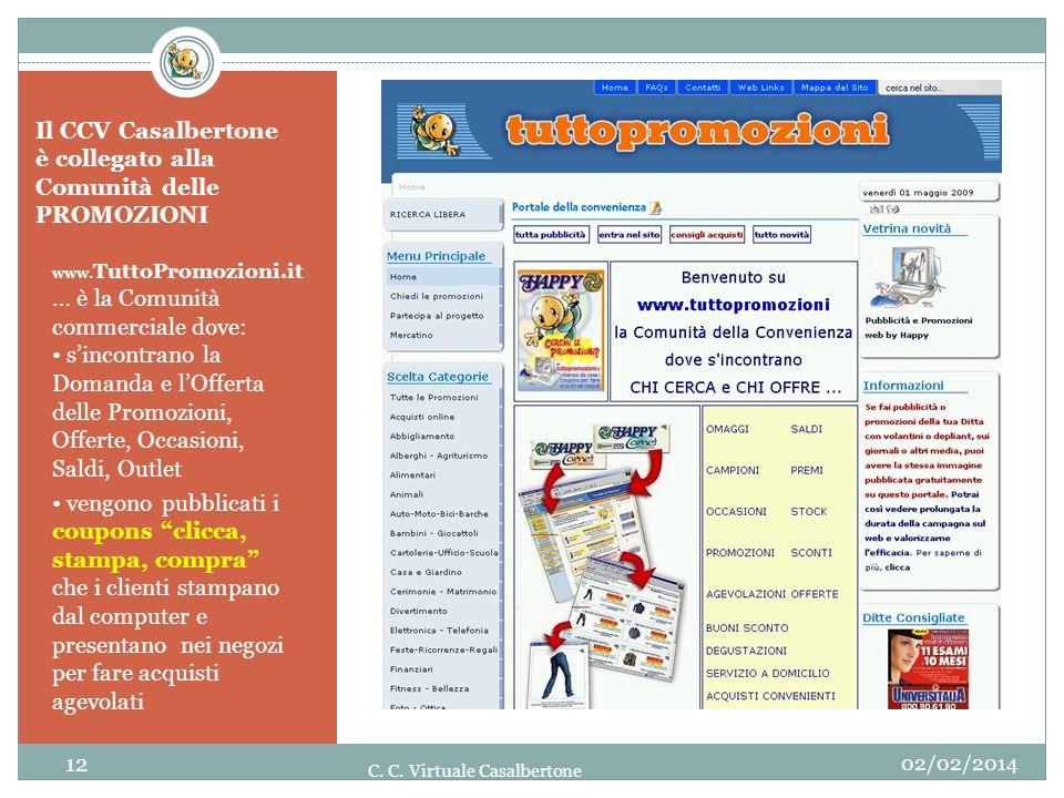 Il CCV Casalbertone è collegato alla Comunità delle PROMOZIONI www. TuttoPromozioni.it … è la Comunità commerciale dove: sincontrano la Domanda e lOff