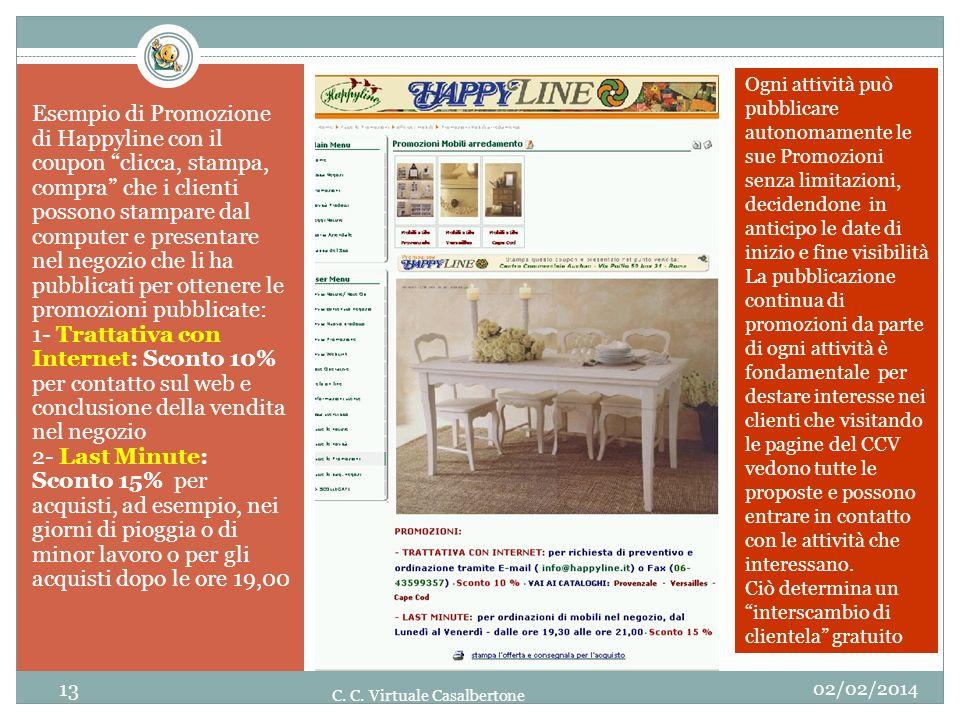 Esempio di Promozione di Happyline con il coupon clicca, stampa, compra che i clienti possono stampare dal computer e presentare nel negozio che li ha
