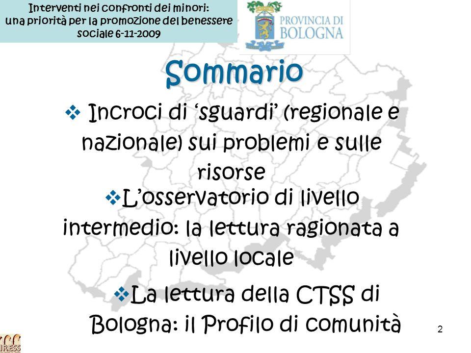 23 2006 2007 Il profilo di comunità di Bologna