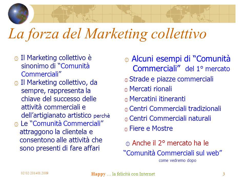 La forza del Marketing collettivo ۞ Il Marketing collettivo è sinonimo di Comunità Commerciali ۞ Il Marketing collettivo, da sempre, rappresenta la ch
