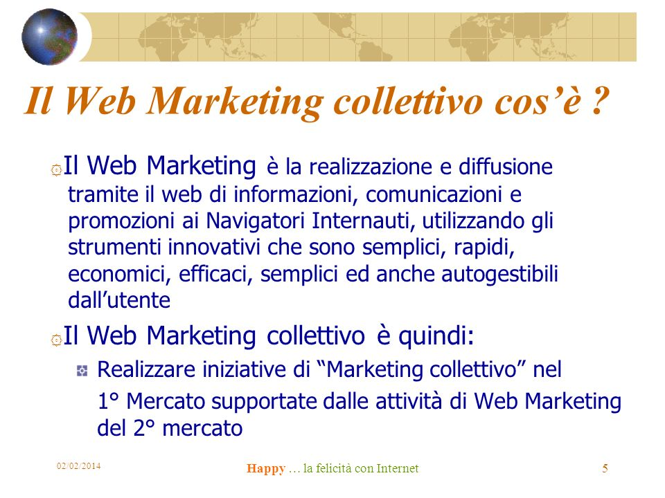 Il Web Marketing collettivo cosè .