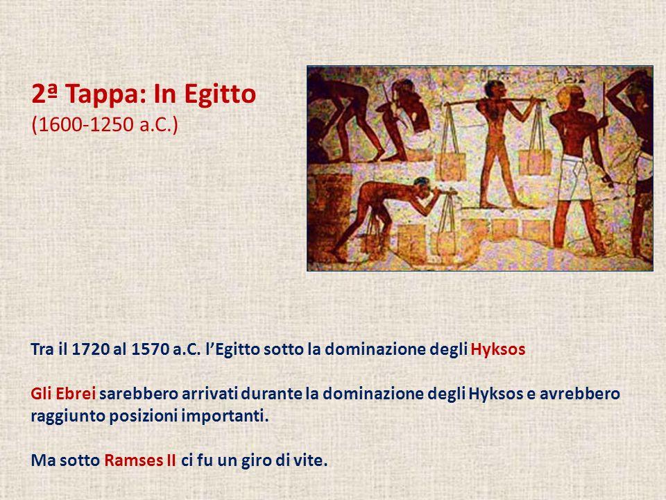 2ª Tappa: In Egitto (1600-1250 a.C.) Tra il 1720 al 1570 a.C.