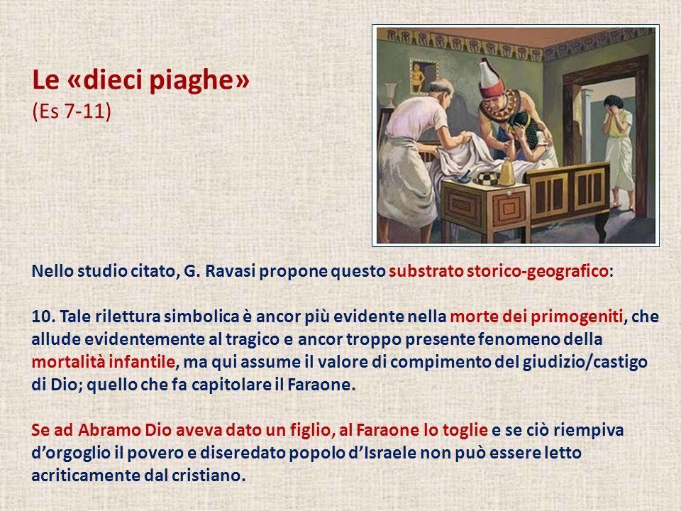 Le «dieci piaghe» (Es 7-11) Nello studio citato, G. Ravasi propone questo substrato storico-geografico: 10. Tale rilettura simbolica è ancor più evide