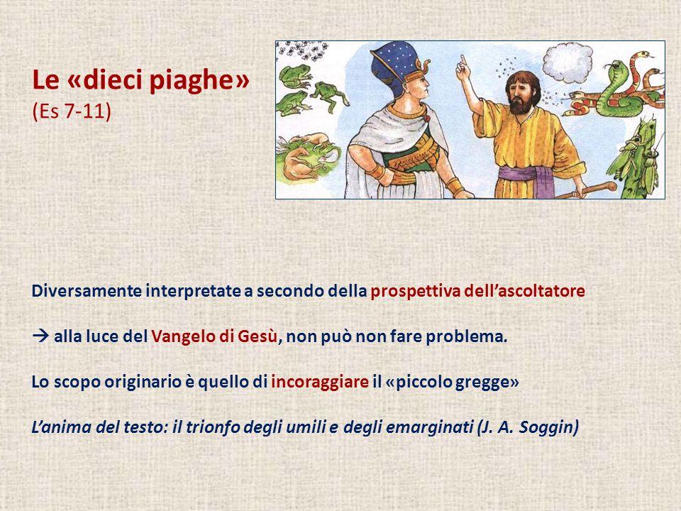Le «dieci piaghe» (Es 7-11) Diversamente interpretate a secondo della prospettiva dellascoltatore alla luce del Vangelo di Gesù, non può non fare prob