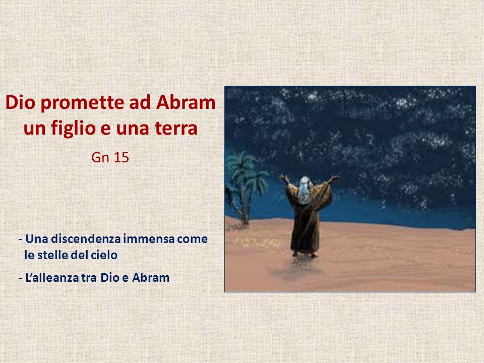 Dio promette ad Abram un figlio e una terra Gn 15 - Una discendenza immensa come le stelle del cielo - Lalleanza tra Dio e Abram