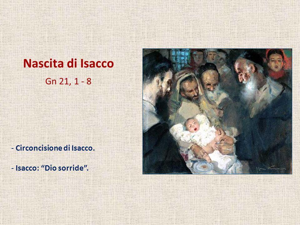 Nascita di Isacco Gn 21, 1 - 8 - Circoncisione di Isacco. - Isacco: Dio sorride.