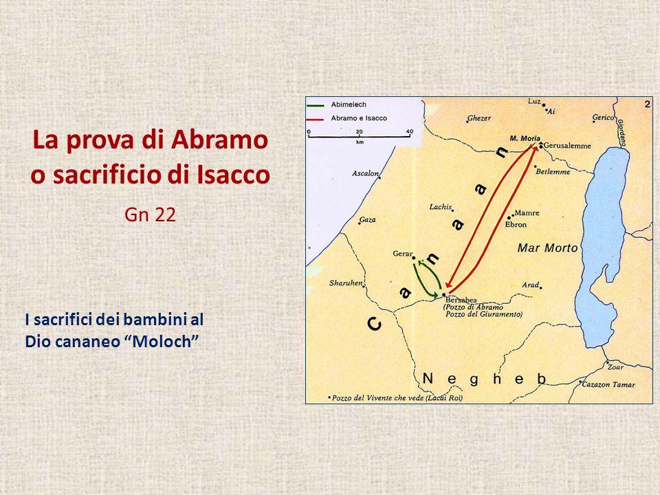 La prova di Abramo o sacrificio di Isacco Gn 22 I sacrifici dei bambini al Dio cananeo Moloch