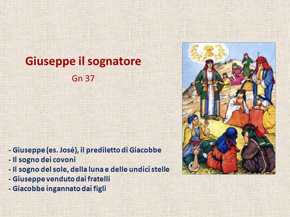 Giuseppe il sognatore Gn 37 - Giuseppe (es. José), il prediletto di Giacobbe - Il sogno dei covoni - Il sogno del sole, della luna e delle undici stel