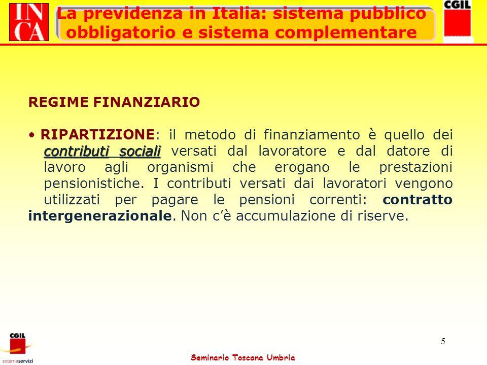 Seminario Toscana Umbria 36 Utilizzo del T.F.R.