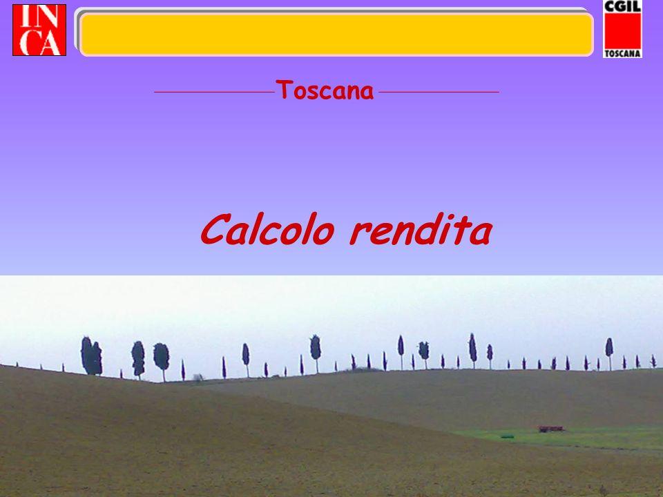 21 Calcolo rendita Toscana