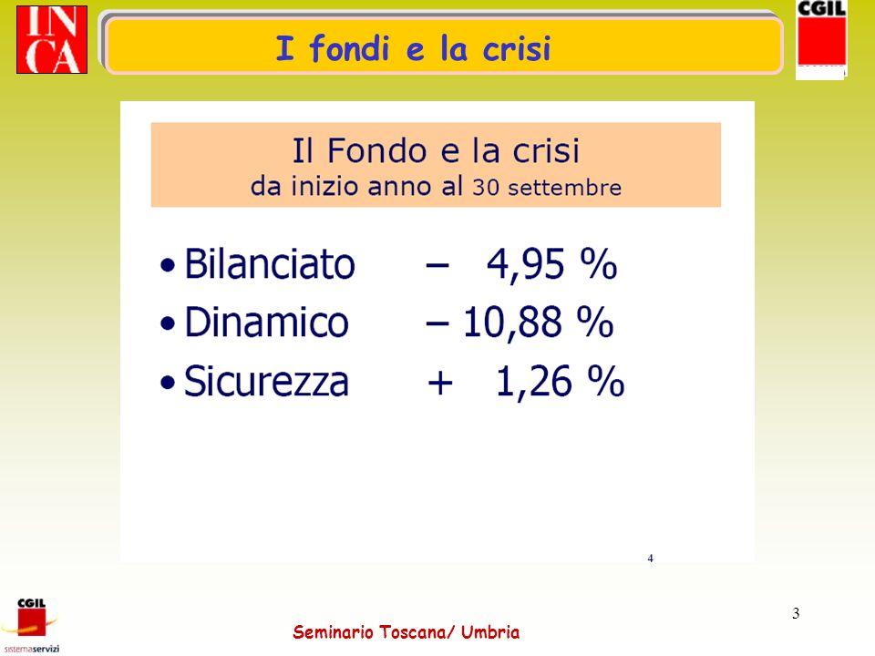 Seminario Toscana/ Umbria 3 I fondi e la crisi