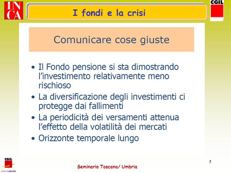 Seminario Toscana/ Umbria 6 Prestazioni Toscana