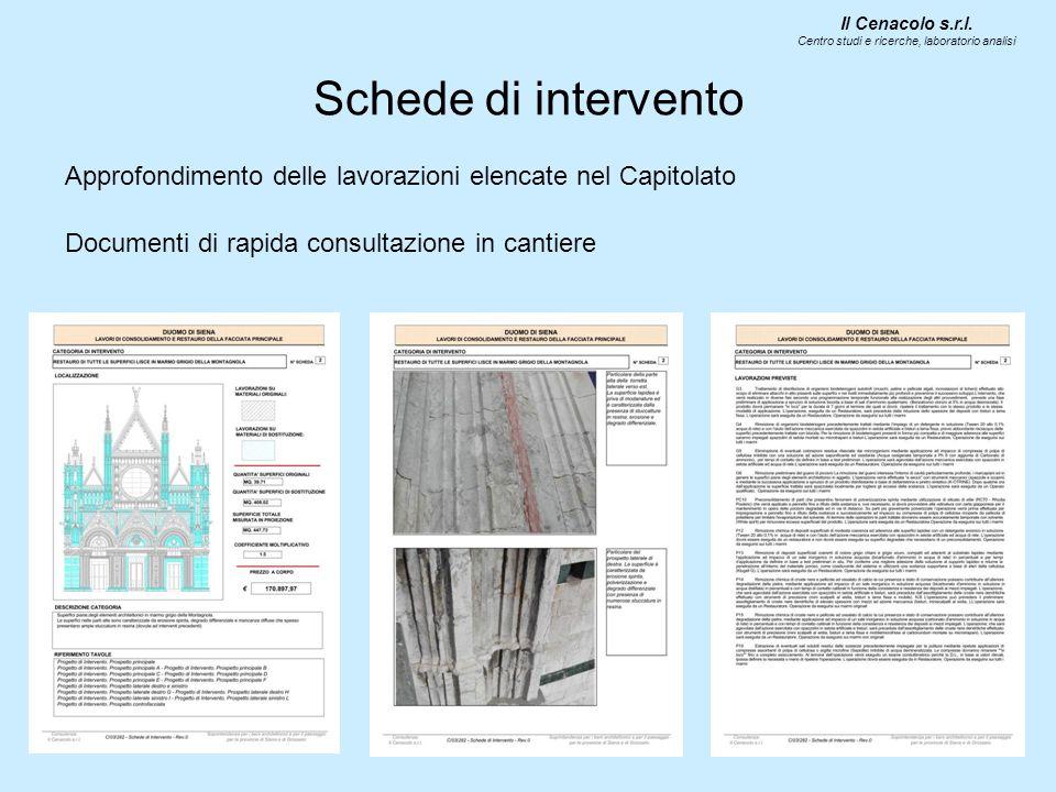 Schede di intervento Documenti di rapida consultazione in cantiere Il Cenacolo s.r.l.