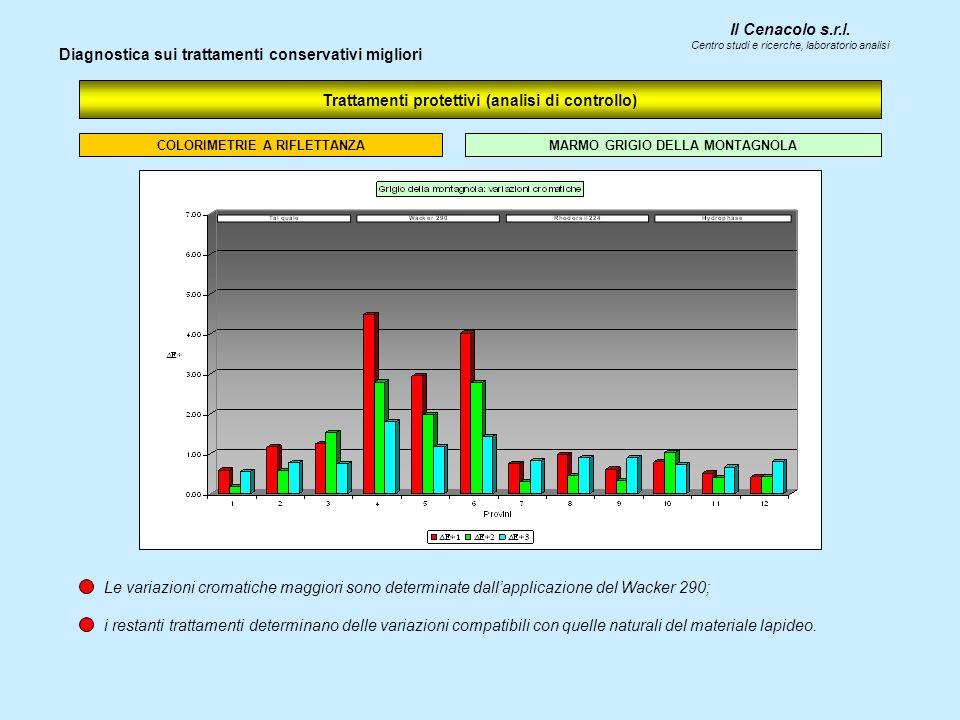 Il Cenacolo s.r.l. Centro studi e ricerche, laboratorio analisi Trattamenti protettivi (analisi di controllo) Diagnostica sui trattamenti conservativi