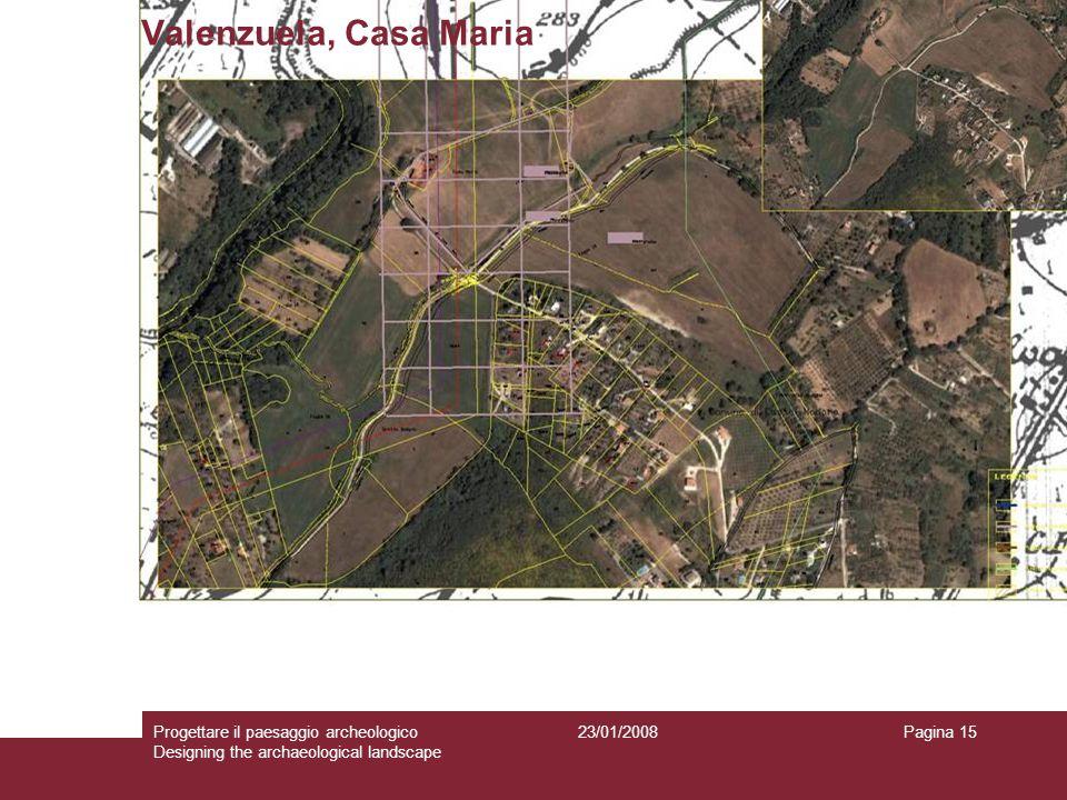23/01/2008Progettare il paesaggio archeologico Designing the archaeological landscape Pagina 15 Valenzuela, Casa Maria