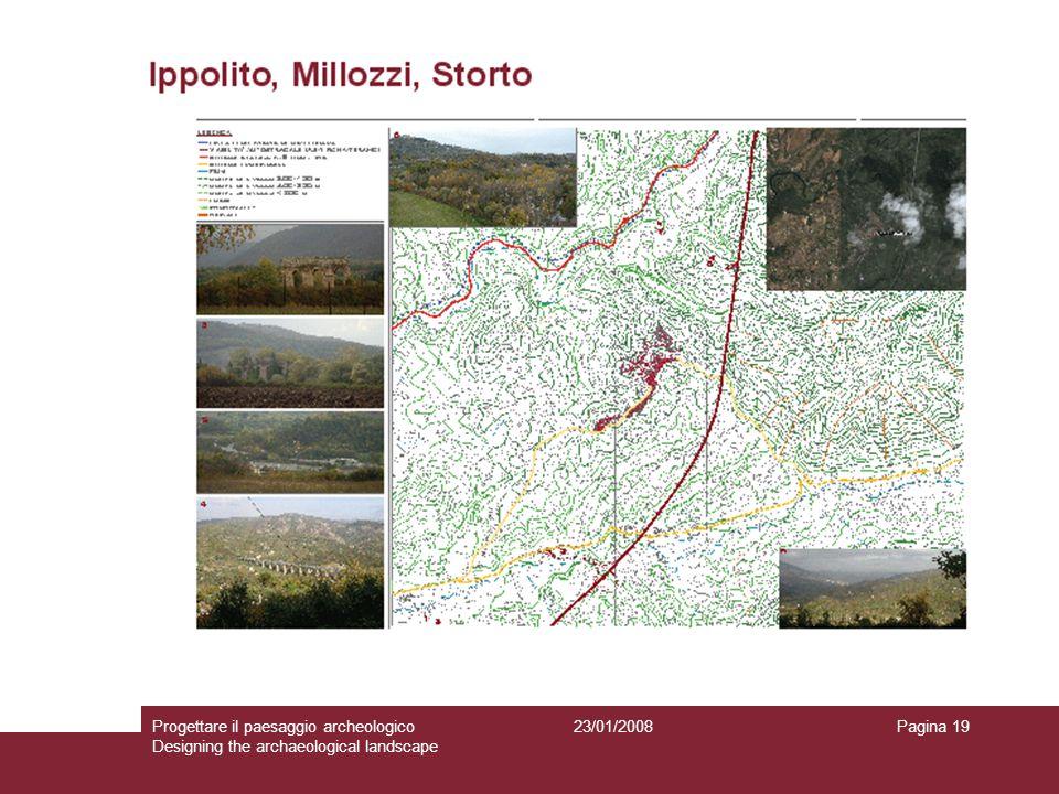 23/01/2008Progettare il paesaggio archeologico Designing the archaeological landscape Pagina 19