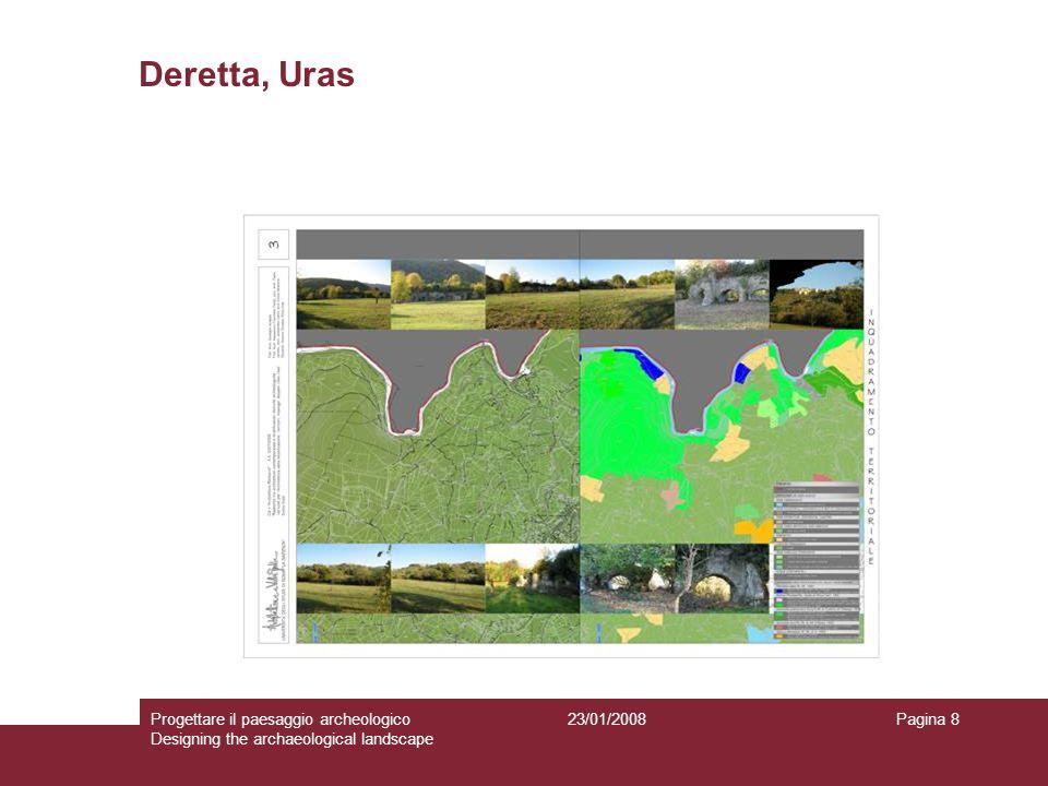 23/01/2008Progettare il paesaggio archeologico Designing the archaeological landscape Pagina 8 Deretta, Uras