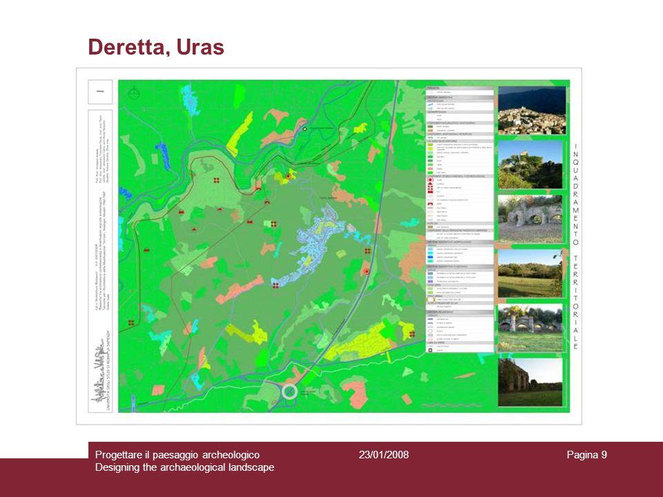 23/01/2008Progettare il paesaggio archeologico Designing the archaeological landscape Pagina 9 Deretta, Uras