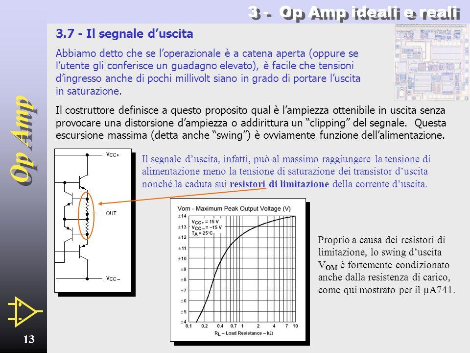 Op Amp 12 3.6 - Il CMRR Proprio poiché loperazionale è progettato per amplificare la differenza fra le due tensioni dingresso, esso non deve amplifica