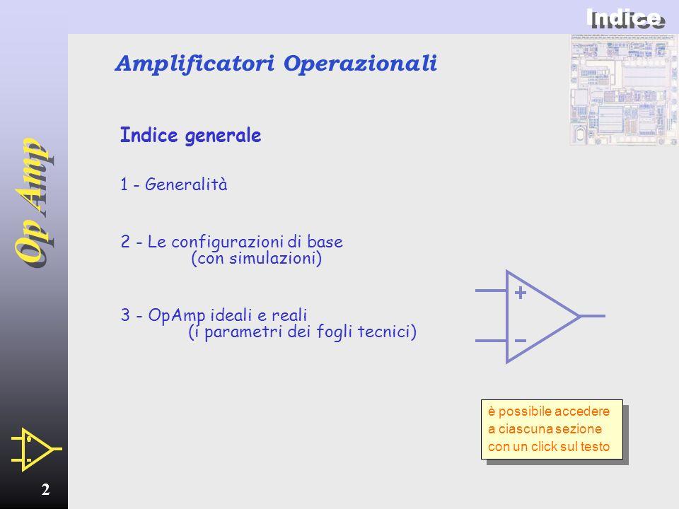 Op Amp 1 Amplificatori Operazionali teoria, parametri, configurazioni, applicazioni e circuiti tipici insomma… tutto sugli Op Amp!