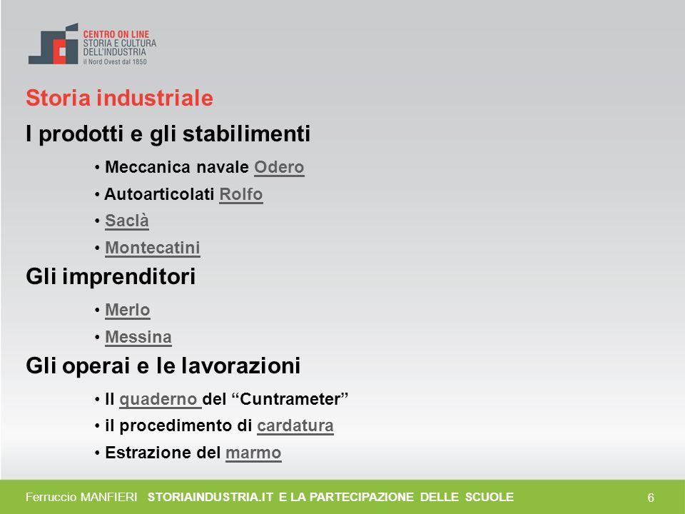 5 Attività e strumenti (II) Elaborazione e formalizzazione Video Lettura storica del territorio Schedatura processi produttivi Mappe concettuali Siti