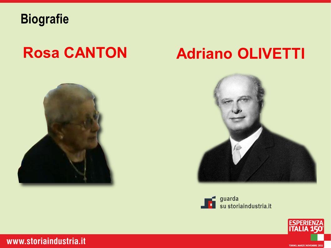 Biografie Rosa CANTON Adriano OLIVETTI guarda su storiaindustria.it