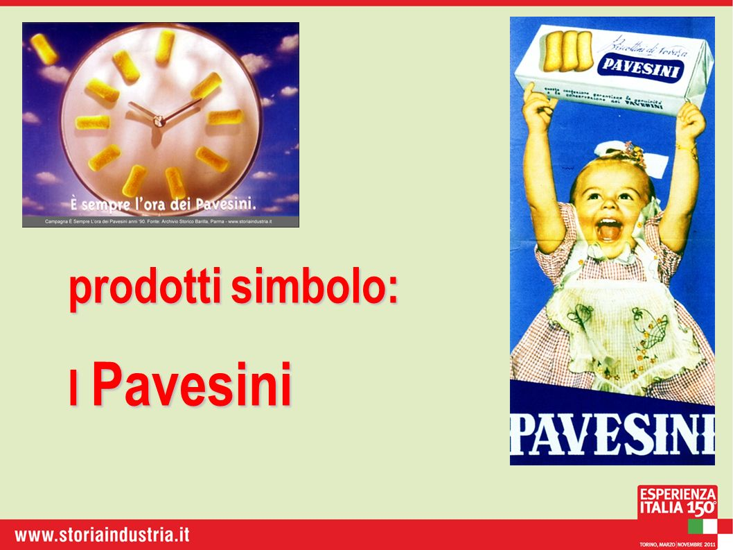 prodotti simbolo: I Pavesini