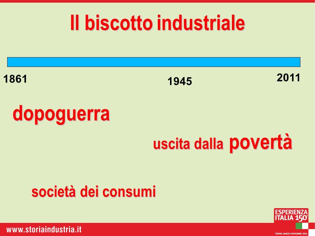 1861 2011 Il biscotto industriale dopoguerra 1945 uscita dalla povertà società dei consumi