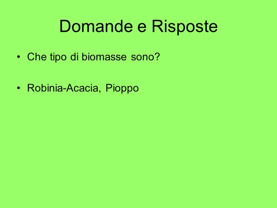 Domande e Risposte Che tipo di biomasse sono Robinia-Acacia, Pioppo