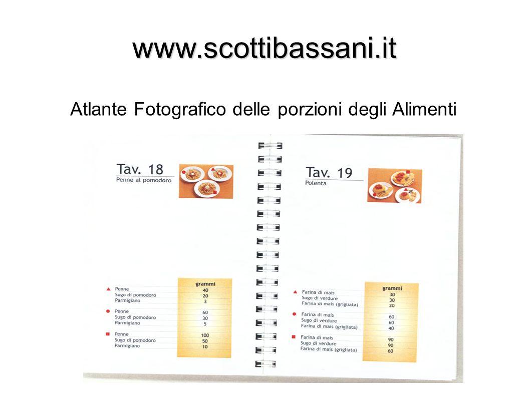 www.scottibassani.it Atlante Fotografico delle porzioni degli Alimenti