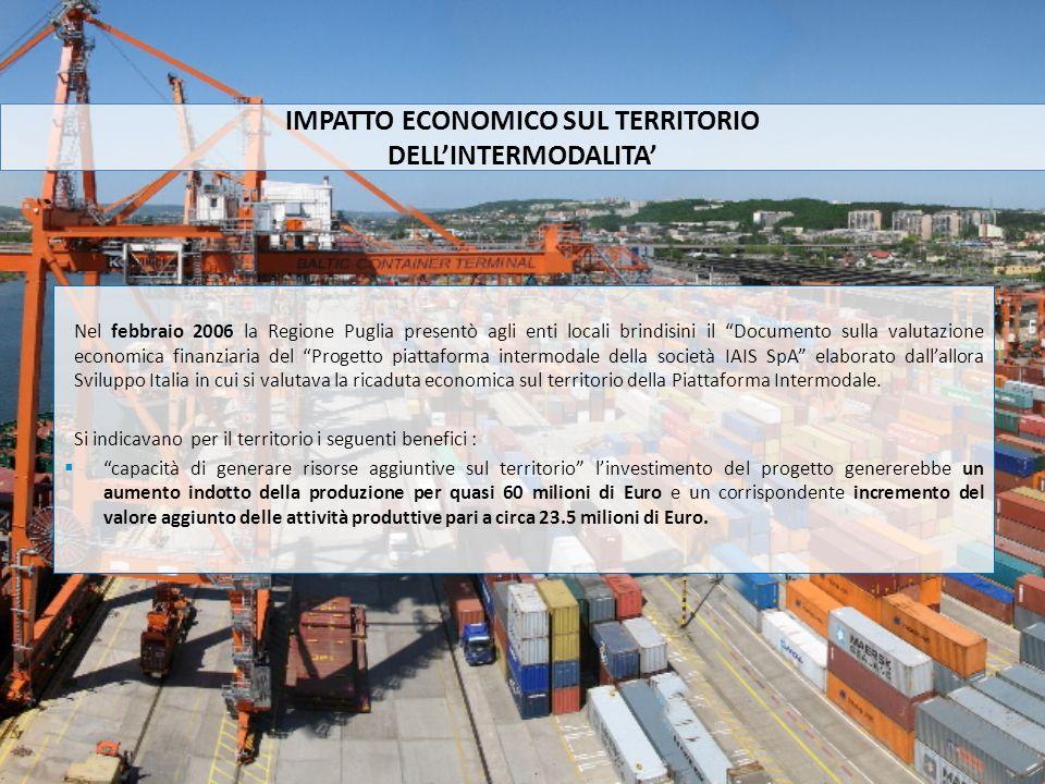 Nel febbraio 2006 la Regione Puglia presentò agli enti locali brindisini il Documento sulla valutazione economica finanziaria del Progetto piattaforma