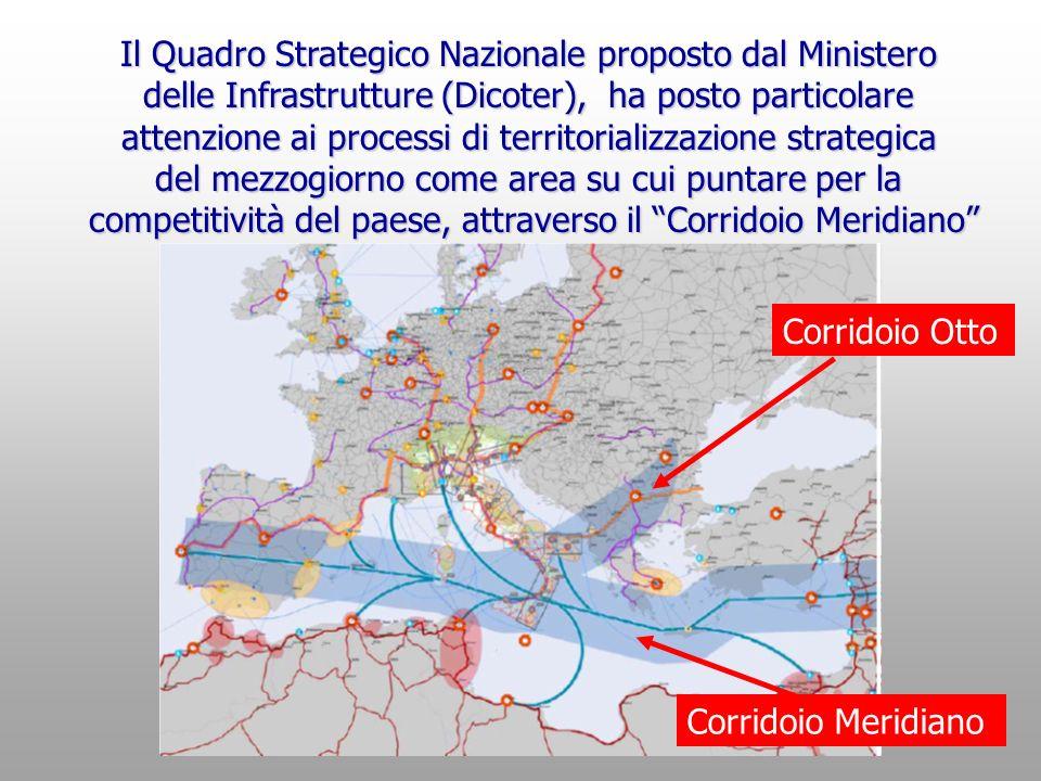 Il Quadro Strategico Nazionale proposto dal Ministero delle Infrastrutture (Dicoter), ha posto particolare attenzione ai processi di territorializzazi