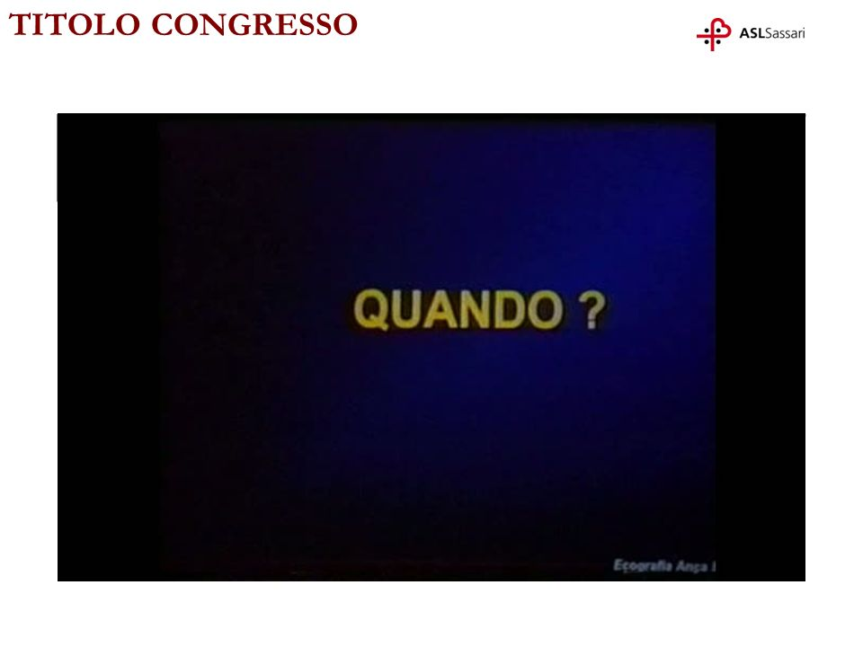 TITOLO CONGRESSO