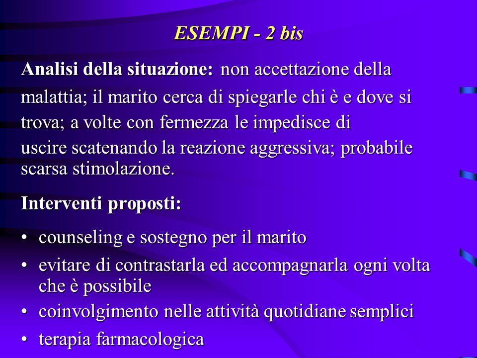 ESEMPI - 3: deliri di gelosia B.