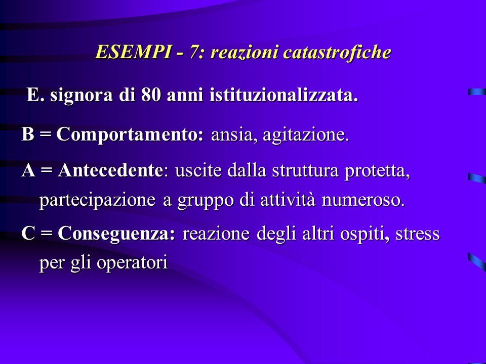 ESEMPI - 7 bis Analisi della situazione: cambiamenti nella routine quotidiana.