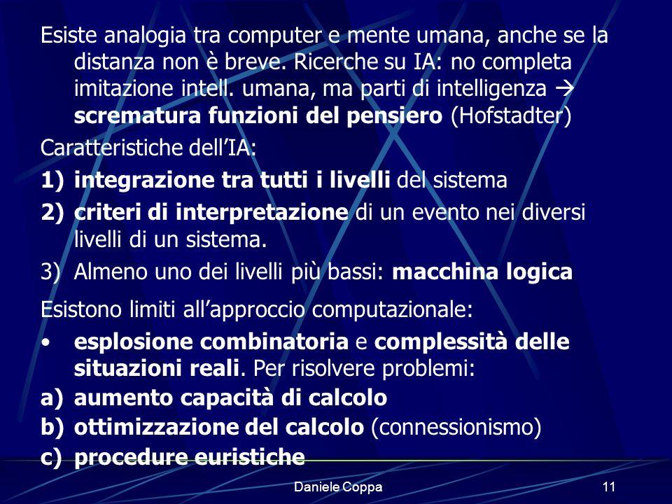 Daniele Coppa10 Indagine sulla logica: linguaggi formali (costruzione di linguaggi rigorosi).
