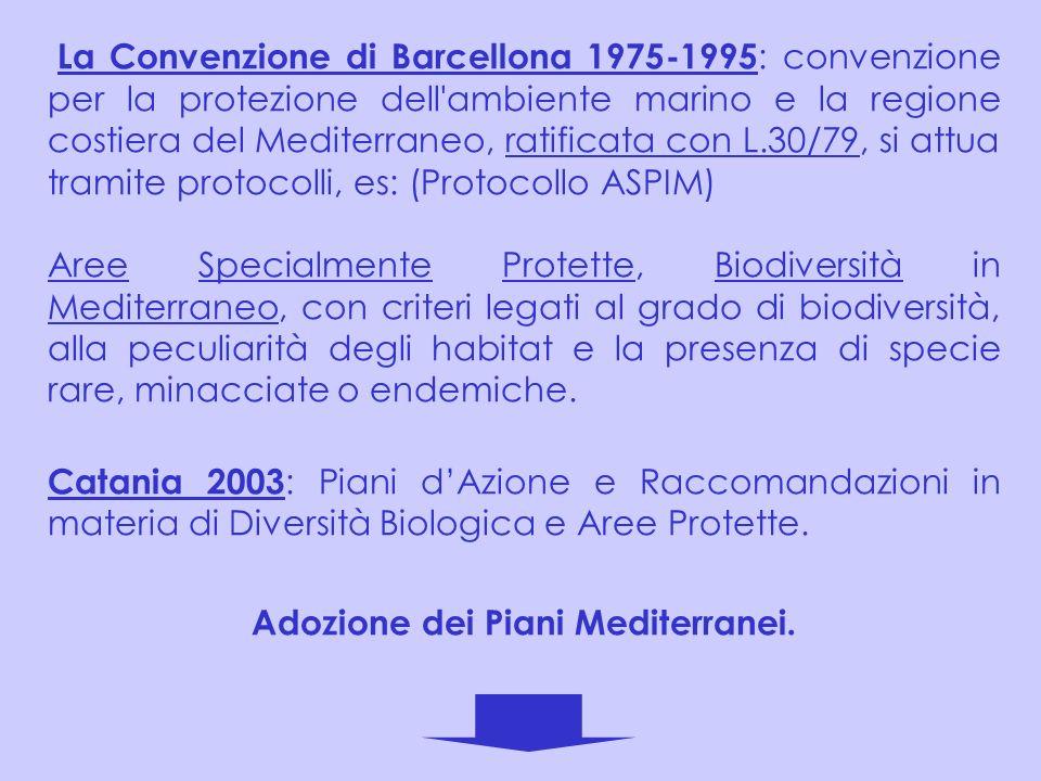 La Convenzione di Barcellona 1975-1995 : convenzione per la protezione dell'ambiente marino e la regione costiera del Mediterraneo, ratificata con L.3