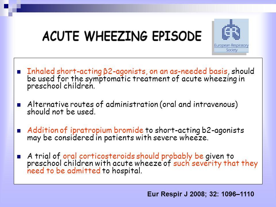 EventiFluticasonePlacebop Giorni liberi da sintomi di asma (%) 86.8% (IC 95% da 81.2 a 90.9)85.9% (IC 95% da 79.9 a 90.3) 0.78 Uso supplementare di fluticasone (n.gg/anno) 20.1 (IC 95% da 16.5 a 24.6)27.0 (IC 95% da 22.5 a 32.7)0.007 Riacutizzazioni che richiedevano un ciclo di cortisone sistemico /bambino/anno 0.85 (IC 95% da 0.71 a 1.03)0.82 (IC 95% da 0.68 a 1.00)0.78 Visite non programmate /bambino/anno 1.08 (IC 95% da 0.91 a 1.29)0.88 (IC 95% da 0.72 a 1.07)0.11 Ricoveri per asma /100 bambini/anno 0.76 (IC 95% da 0.11 a 5.38)1.54 (IC 95% da 0.39 a 6.15)0.55 Uso dei broncodilatatori n.