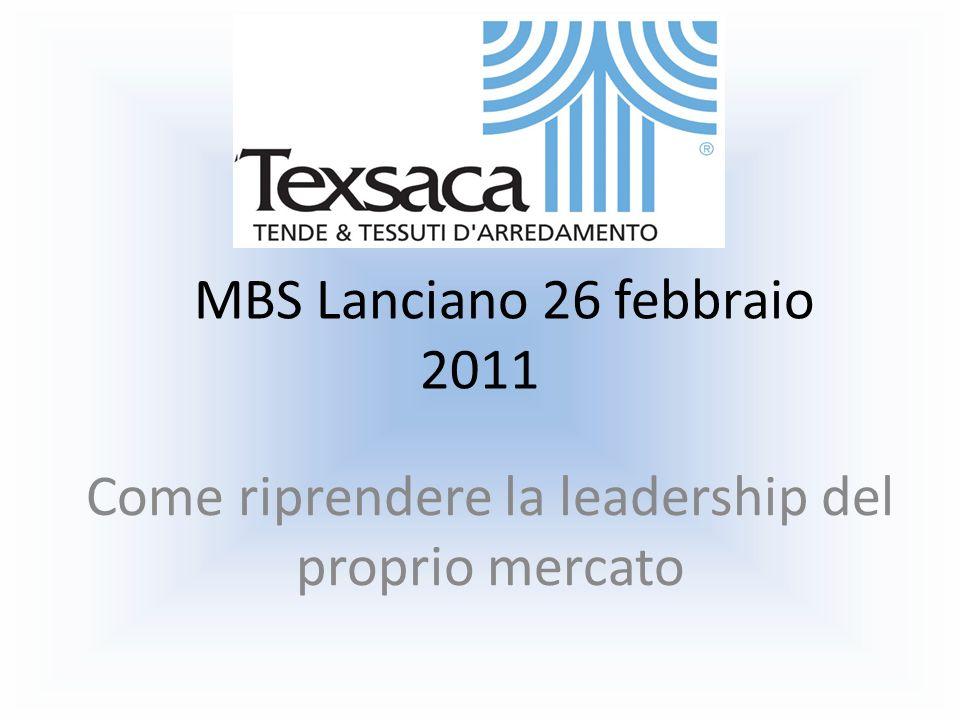 MBS Lanciano 26 febbraio 2011 Come riprendere la leadership del proprio mercato
