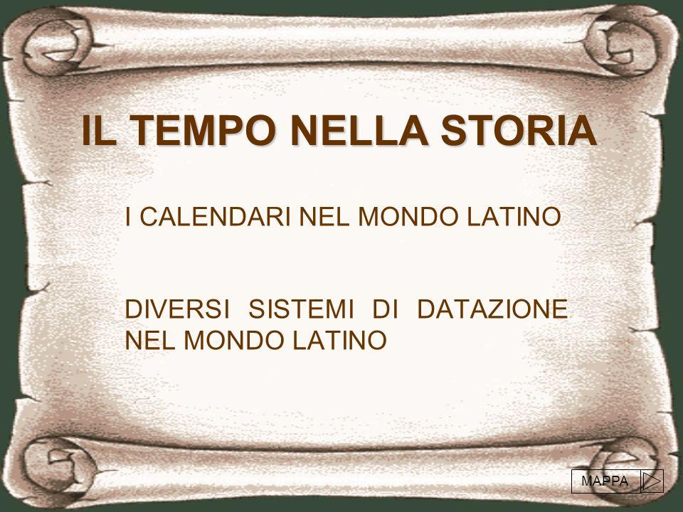 I calendari nel mondo latino Lantico calendario romano Il calendario numano Il calendario giuliano Il calendario gregoriano