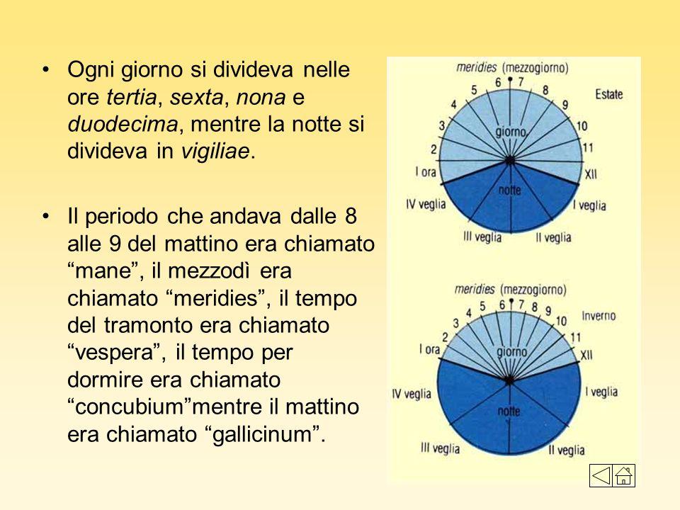 Il calendario Giuliano Giulio Cesare nel 46 a.C., fece una nuova riforma.