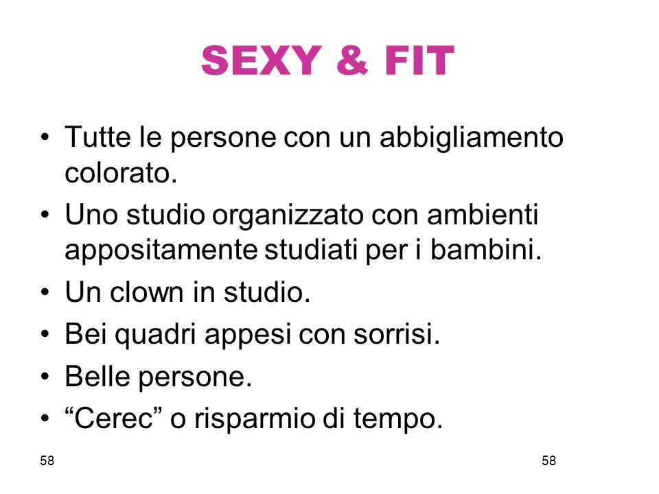 58 SEXY & FIT Tutte le persone con un abbigliamento colorato.